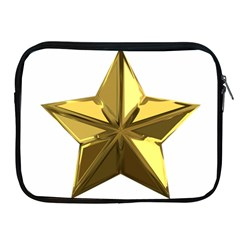 Stars Gold Color Transparency Apple Ipad 2/3/4 Zipper Cases