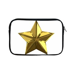 Stars Gold Color Transparency Apple Ipad Mini Zipper Cases
