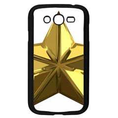 Stars Gold Color Transparency Samsung Galaxy Grand Duos I9082 Case (black)