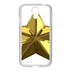 Stars Gold Color Transparency Samsung Galaxy S4 I9500/ I9505 Case (white)