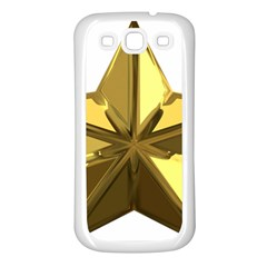 Stars Gold Color Transparency Samsung Galaxy S3 Back Case (white)