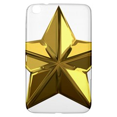 Stars Gold Color Transparency Samsung Galaxy Tab 3 (8 ) T3100 Hardshell Case