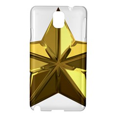 Stars Gold Color Transparency Samsung Galaxy Note 3 N9005 Hardshell Case