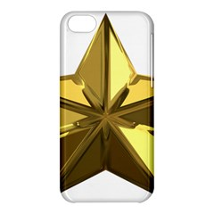 Stars Gold Color Transparency Apple Iphone 5c Hardshell Case