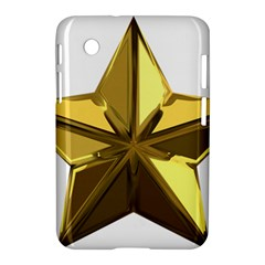 Stars Gold Color Transparency Samsung Galaxy Tab 2 (7 ) P3100 Hardshell Case