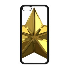Stars Gold Color Transparency Apple Iphone 5c Seamless Case (black)
