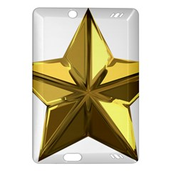 Stars Gold Color Transparency Amazon Kindle Fire Hd (2013) Hardshell Case