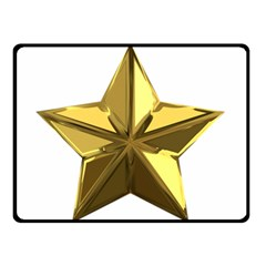 Stars Gold Color Transparency Double Sided Fleece Blanket (small)
