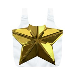 Stars Gold Color Transparency Full Print Recycle Bags (M)