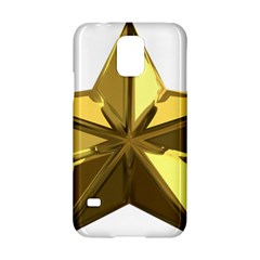 Stars Gold Color Transparency Samsung Galaxy S5 Hardshell Case