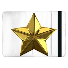Stars Gold Color Transparency Samsung Galaxy Tab Pro 12 2  Flip Case