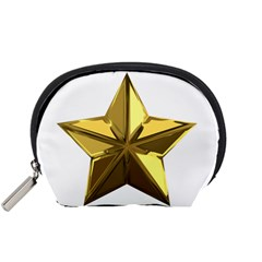 Stars Gold Color Transparency Accessory Pouches (Small)