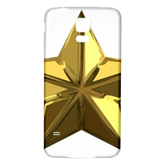 Stars Gold Color Transparency Samsung Galaxy S5 Back Case (White)