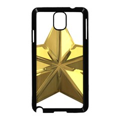 Stars Gold Color Transparency Samsung Galaxy Note 3 Neo Hardshell Case (black)