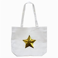 Stars Gold Color Transparency Tote Bag (white)