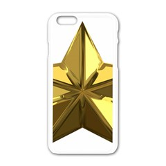 Stars Gold Color Transparency Apple Iphone 6/6s White Enamel Case