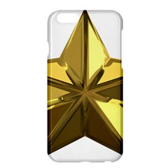Stars Gold Color Transparency Apple Iphone 6 Plus/6s Plus Hardshell Case