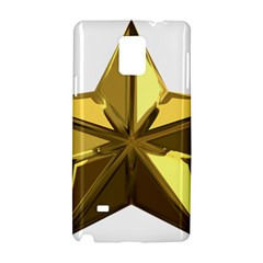 Stars Gold Color Transparency Samsung Galaxy Note 4 Hardshell Case