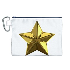 Stars Gold Color Transparency Canvas Cosmetic Bag (L)