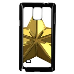 Stars Gold Color Transparency Samsung Galaxy Note 4 Case (black)