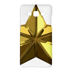 Stars Gold Color Transparency Samsung Galaxy A5 Hardshell Case
