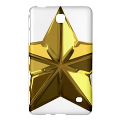 Stars Gold Color Transparency Samsung Galaxy Tab 4 (7 ) Hardshell Case