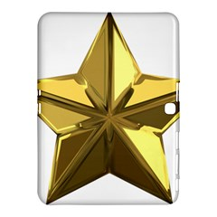Stars Gold Color Transparency Samsung Galaxy Tab 4 (10 1 ) Hardshell Case