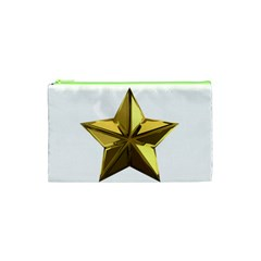 Stars Gold Color Transparency Cosmetic Bag (xs)