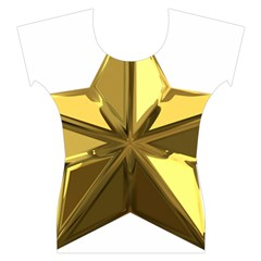 Stars Gold Color Transparency Women s Cap Sleeve Top