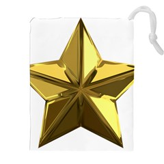 Stars Gold Color Transparency Drawstring Pouches (xxl)