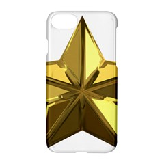 Stars Gold Color Transparency Apple Iphone 7 Hardshell Case