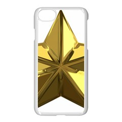 Stars Gold Color Transparency Apple Iphone 7 Seamless Case (white)