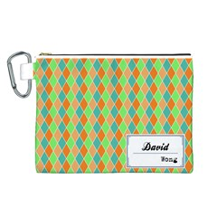 Your Name Canvas Cosmetic Bag (Large)