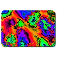 Hot Fractal Statement Large Doormat