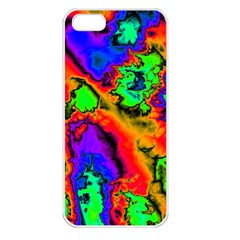 Hot Fractal Statement Apple iPhone 5 Seamless Case (White)