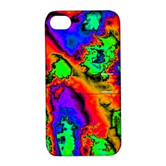 Hot Fractal Statement Apple iPhone 4/4S Hardshell Case with Stand
