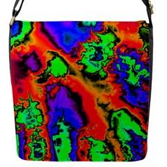 Hot Fractal Statement Flap Messenger Bag (S)
