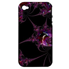 Fantasy Fractal 124 A Apple iPhone 4/4S Hardshell Case (PC+Silicone)