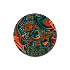 Painted Fractal Rubber Coaster (Round)