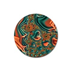 Painted Fractal Magnet 3  (Round)