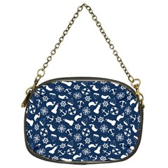 Nautical Navy Chain Purses (One Side)