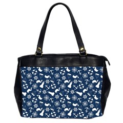 Nautical Navy Office Handbags (2 Sides)