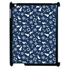Nautical Navy Apple iPad 2 Case (Black)
