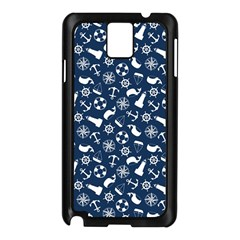 Nautical Navy Samsung Galaxy Note 3 N9005 Case (Black)