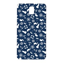 Nautical Navy Samsung Galaxy Note 3 N9005 Hardshell Back Case