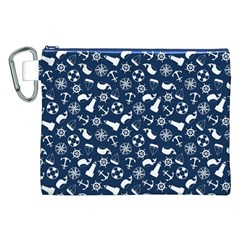 Nautical Navy Canvas Cosmetic Bag (XXL)
