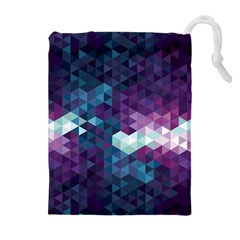 Geo Thunderstorm Drawstring Pouches (Extra Large)