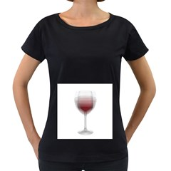 Wine Glass Steve Socha Women s Loose-Fit T-Shirt (Black)
