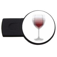 Wine Glass Steve Socha USB Flash Drive Round (4 GB)