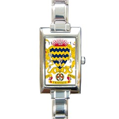 Coat of Arms of Chad Rectangle Italian Charm Watch